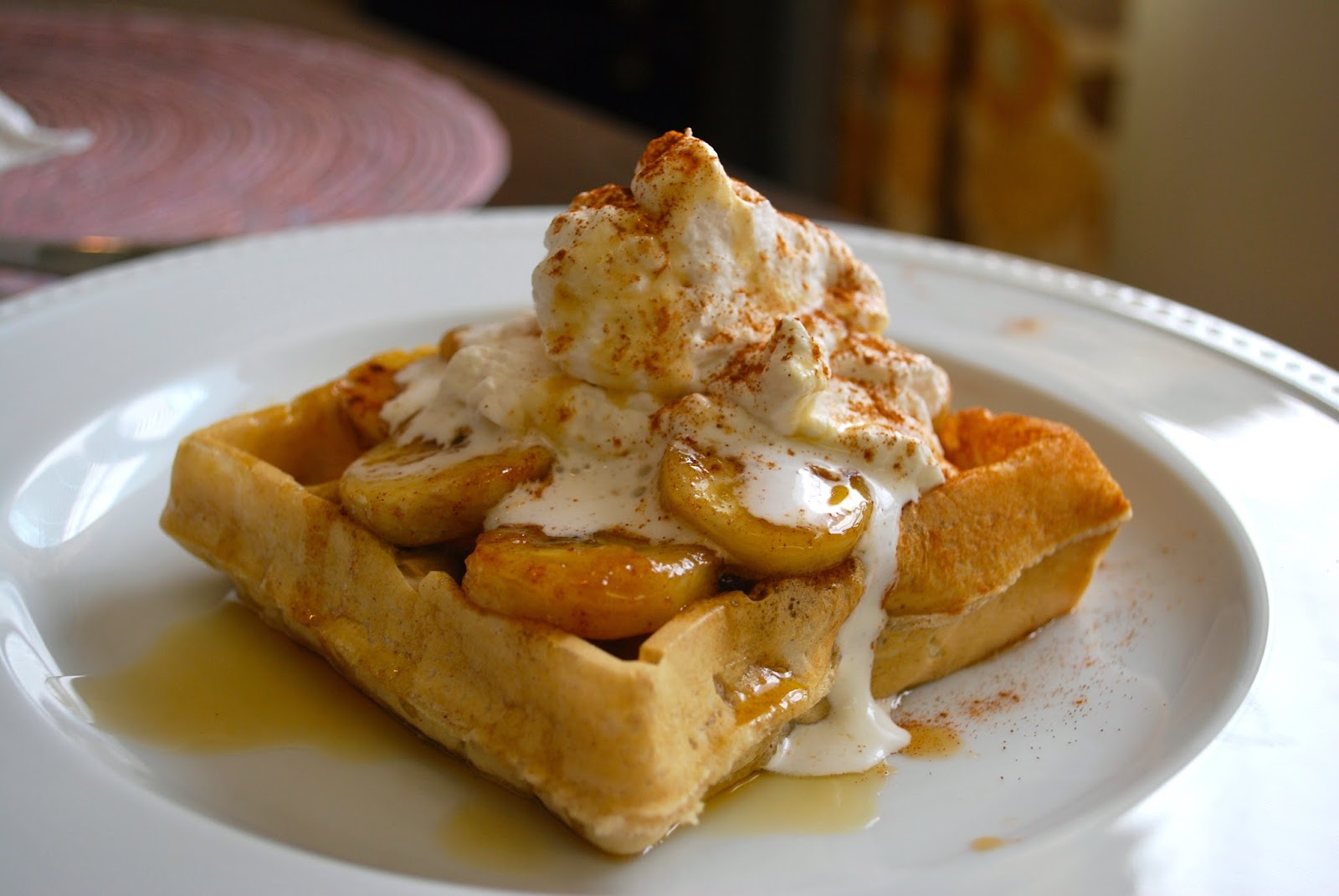 Bananas Foster Waffles | Bevy Richmond