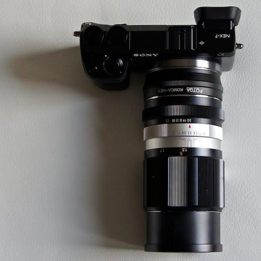 sony nex-7 konica 135mm ar
