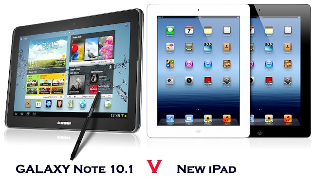 Galaxy Note 10.1 VS The New iPad