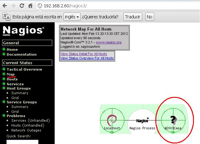 In nagios, using the nagios core config manager, add a service called dbwatch