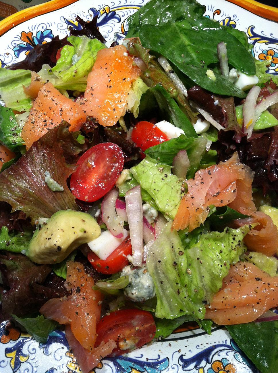 RipJilly's Kitchen: Salmon Salad with Blood Orange Vinaigrette