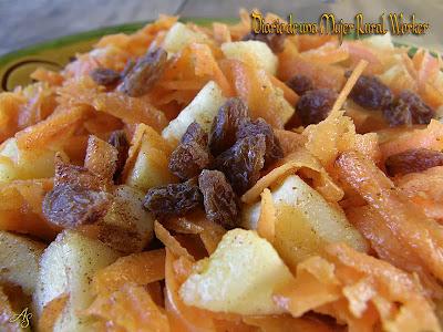 Ensalada de manzana y zanahoria