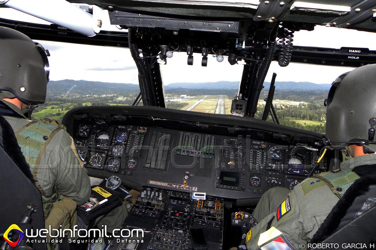El FAC4106 en aproximación final al Comando Aéreo de Combate No 5, ubicado en Rionegro, Antioquia.