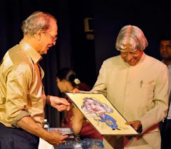 Presentation of Caricature to Dr Abdukl Kalam