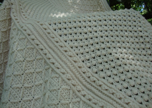 Knitted Popcorn Stitch Afghan Eksposa For