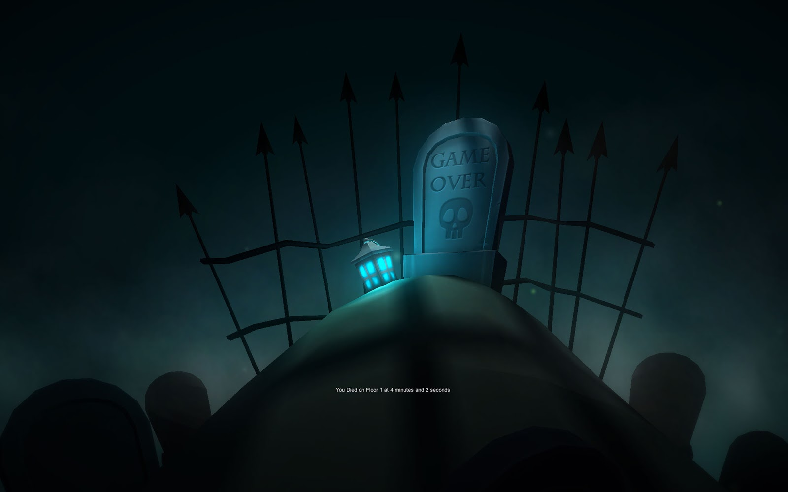 game over screen from this is dungeon