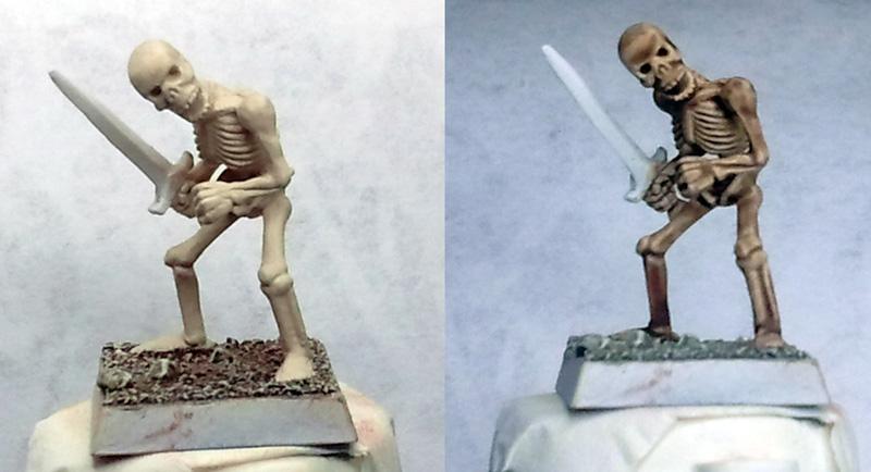Drukhari Paint scheme for unsteady hands Skeleton-wash