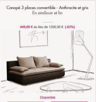 ventes privees sur internet canap s olivier lapidus. Black Bedroom Furniture Sets. Home Design Ideas