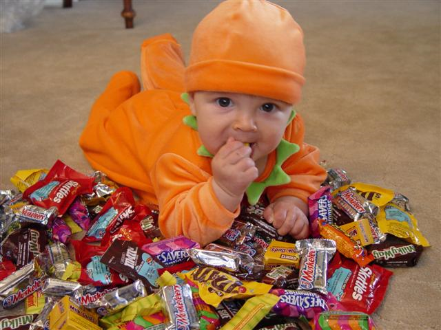Kids Eating Too Much Candy