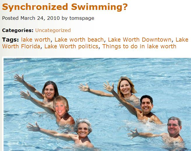 "Public charrette tomor- row in this City of Lake Worth: Click on ""old tired history"" below:"