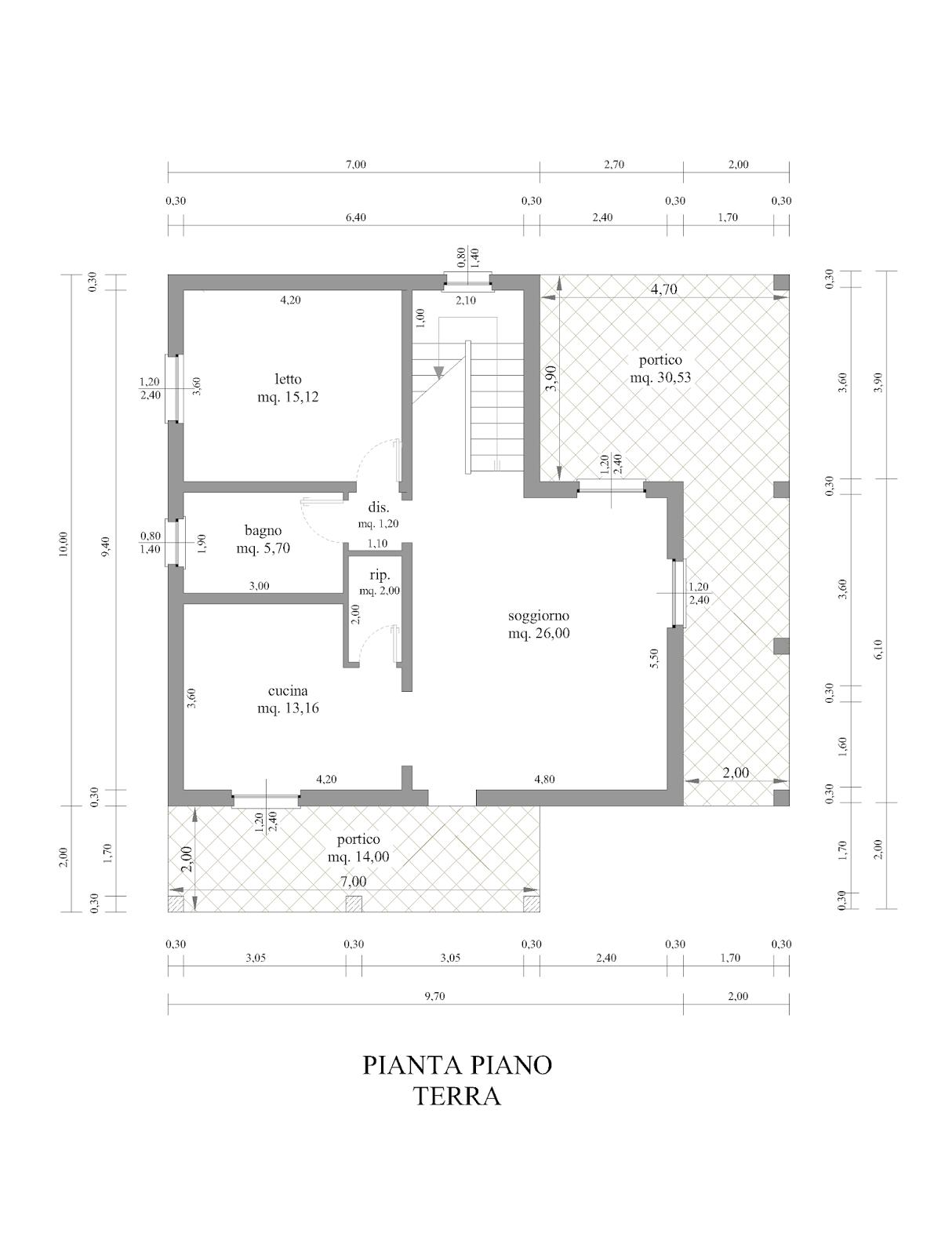 Progetti di case in legno casa 158 mq portici 44 mq for Progetti di casa sollevati
