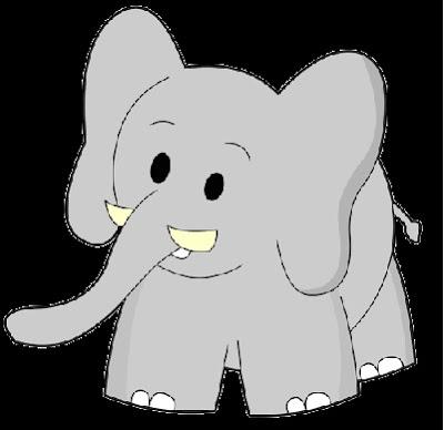 Gambar Kartun Gajah