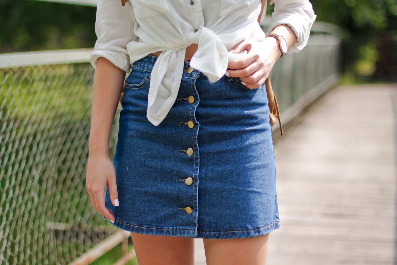 jeansowa spódnica sheinside shein