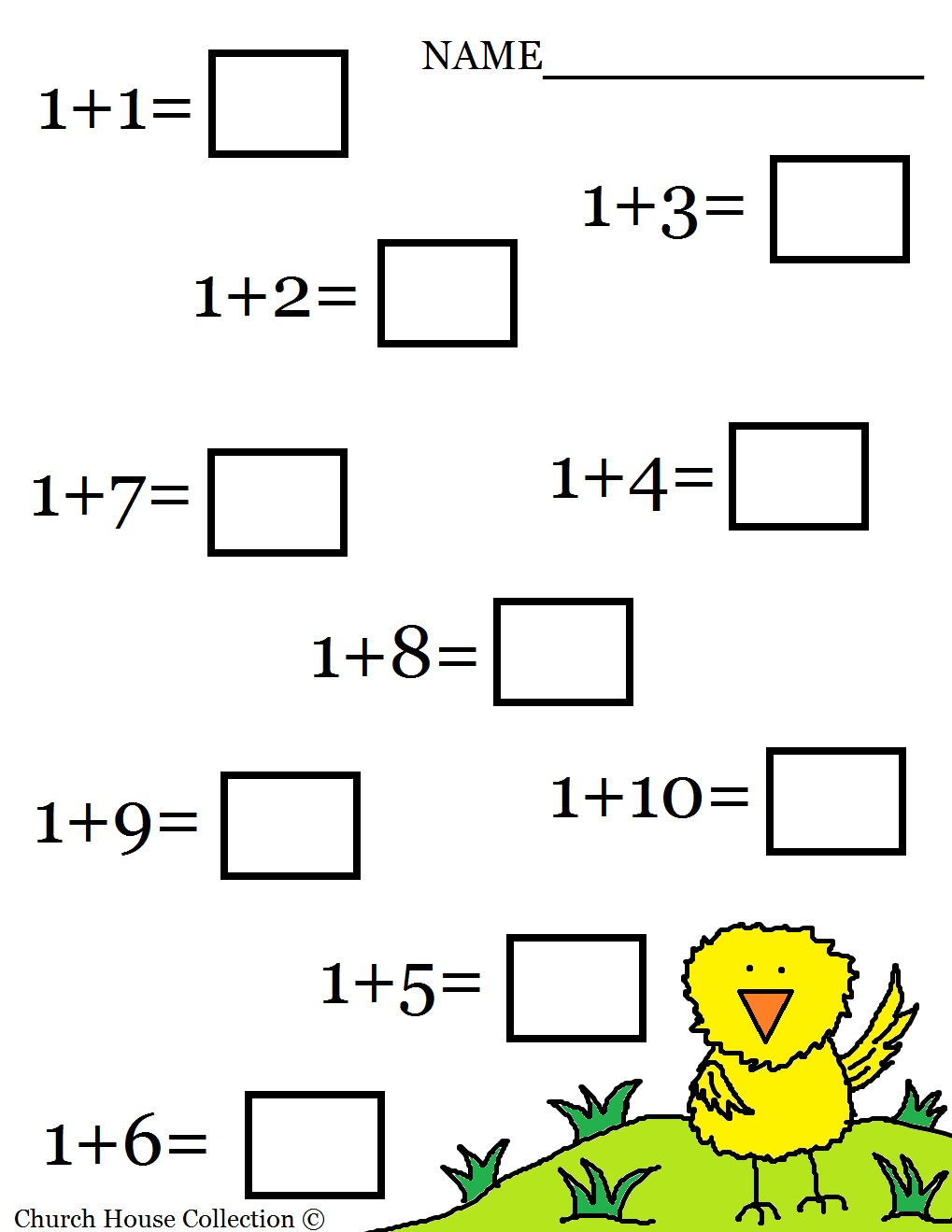free printable Easter Math Addition Worksheet for kids in Kindergarten ...