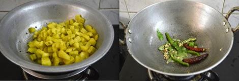 how to make vazhakkai curry
