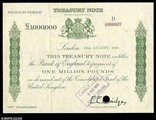 million pound banknote