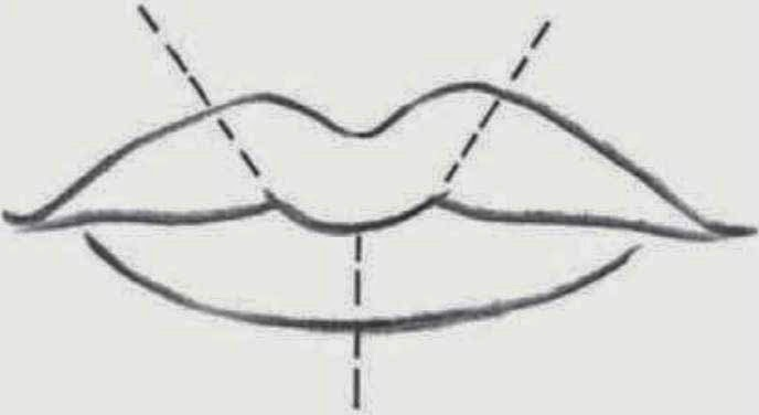 Line Drawing Lips : Drawings facial features lips