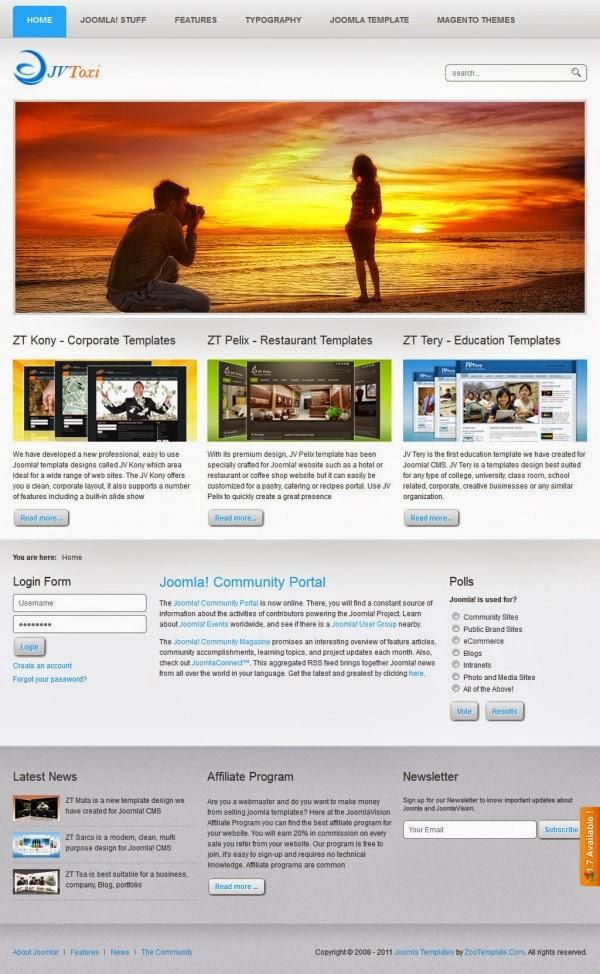 JV Toxi - Joomla Vision Templates