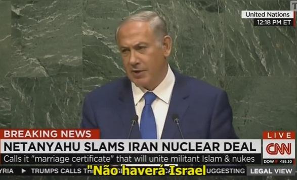 BENJAMIN NETANYAHU DENUNCIA OMISSÃO DA ONU DIANTE AMEAÇAS DE ANIQUILAÇÃO DE ISRAEL