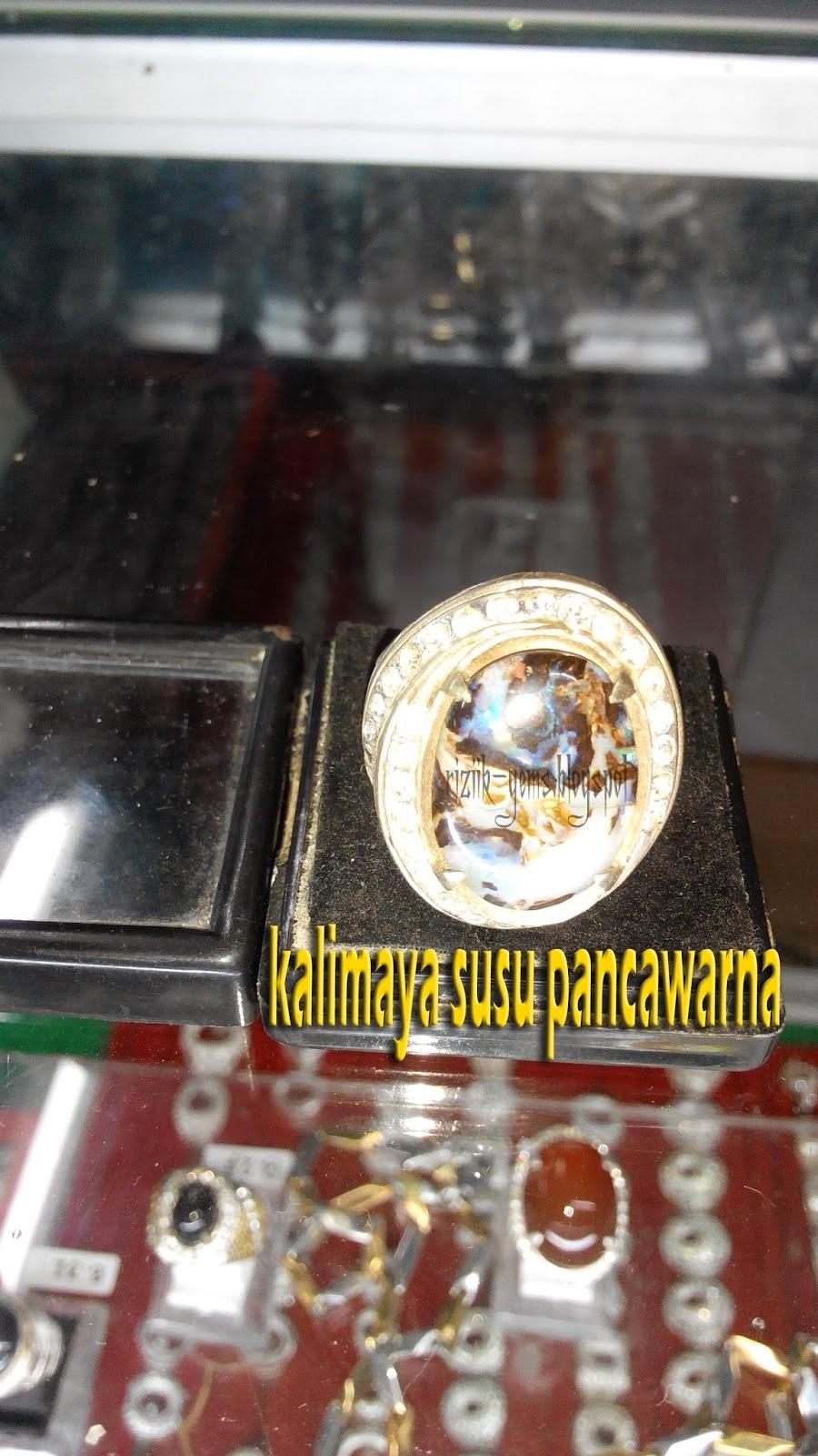 akik dan permata kalimaya susu banten pancawarna