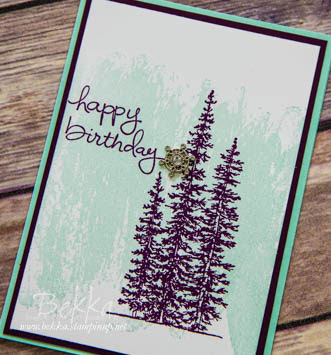 Birthday Card made with the Wonderland Stamps from Stampin' Up! UK - get them here