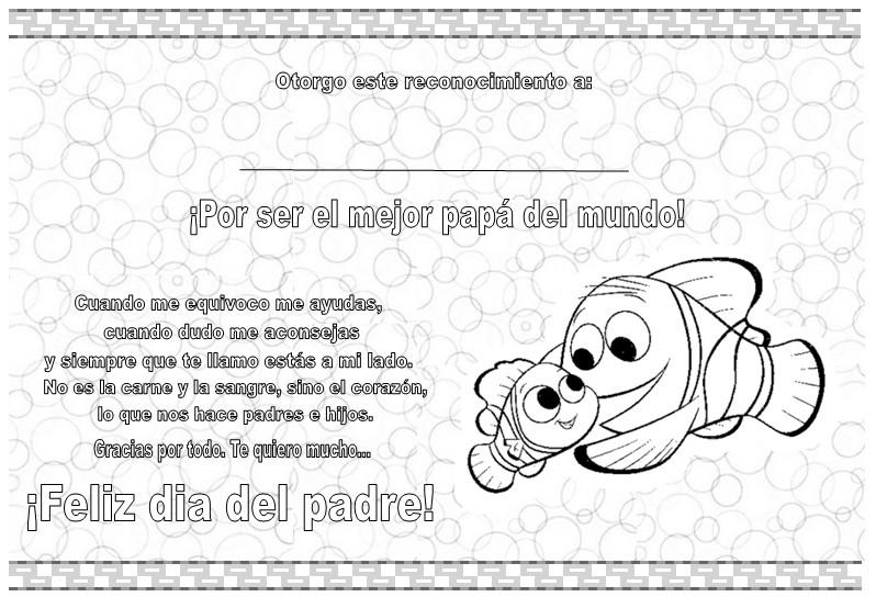 Diplomas para el Día del Padre | Dibujos para Niños