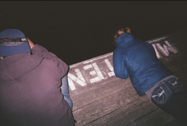 fishing for squid at night