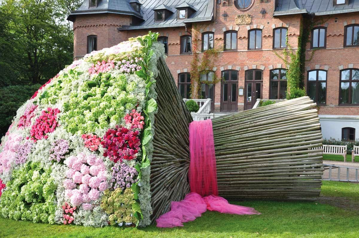A Very Large Bouquet of Flowers at The Sofiero Palace, Sweden ...