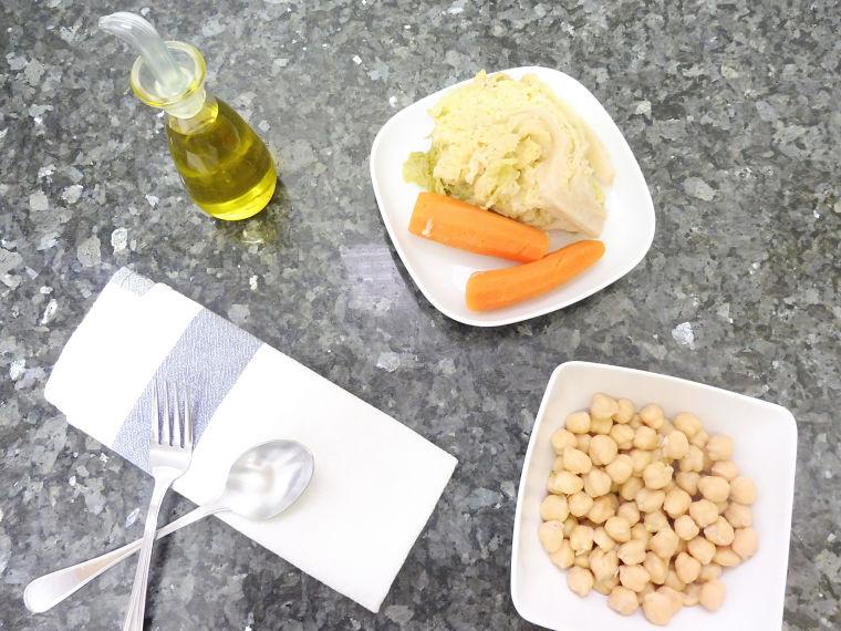 Hummus de col y zanahoria