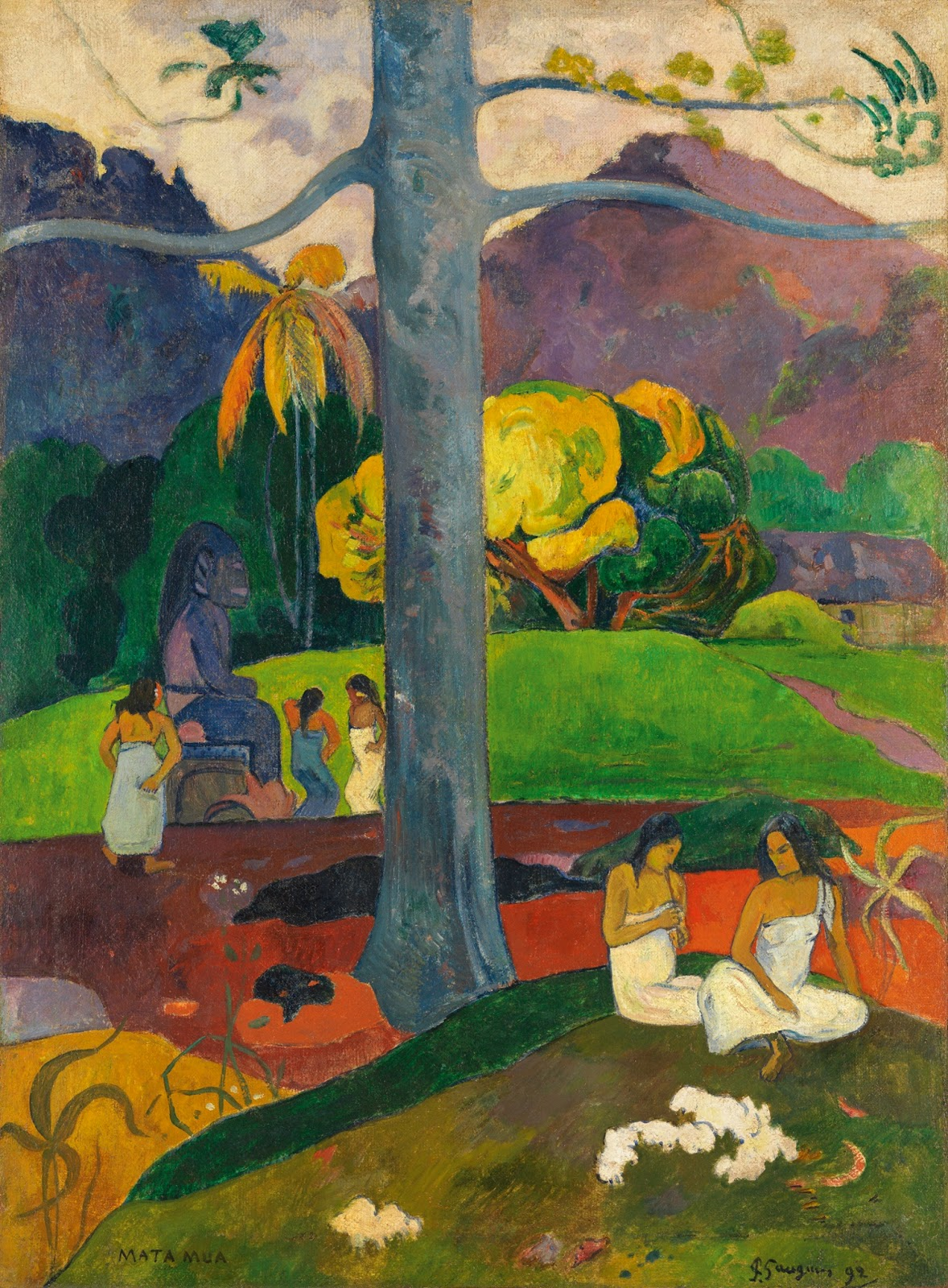 Paul Gauguin -Mata mua (In Olden Times), 1892.