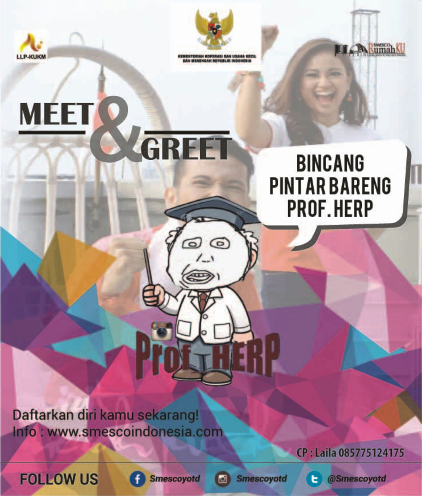 October 2015 Smesco Promo Produk Ukm Bumn Bahan Songket Sulam Katun Merah Meet And Greet Bincang Pintar Bareng Prof Herp