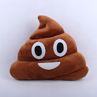 CUTE POOP EMOJI PILLOW brown turd texting character phones