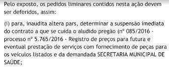 Licitação escandalosa da secretaria de saúde na mira da justiça