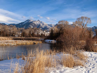 DePuy Spring Creek, Montana, in January