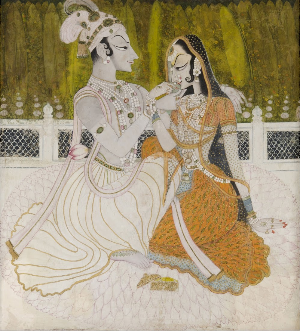 Krishna and Radha, Kishangarh, Rajasthan c1750