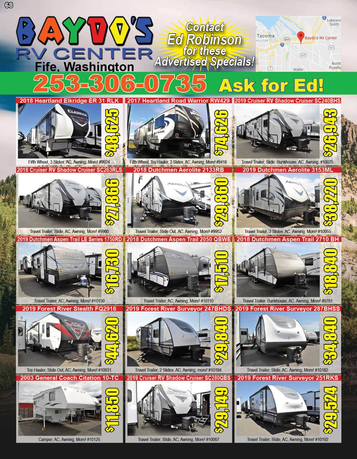 Baydo's RV Center Fife Sale!!