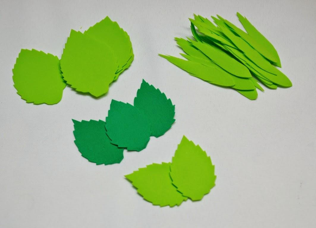 Как сделать листки для цветов 591