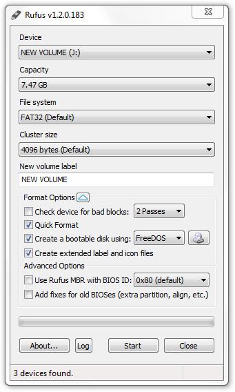 Rufus 1.4.8 Beta Versi Terbaru Mei 2014