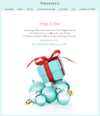 Dec. 13, 2012 Tiffany & Co. email