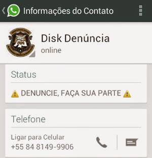 Disk Denúncia da Sesed passa a operar também pelo whatsapp