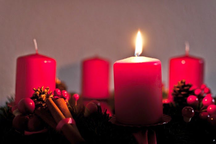 1st Day of Advent Candles