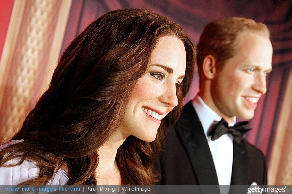 Wax figures of Catherine, Duchess of Cambridge, and Prince William, Duke of Cambridge, are unveiled at The British Royal Family Wax Figures event at Madame Tussauds on May 5, 2015 in Washington, DC.