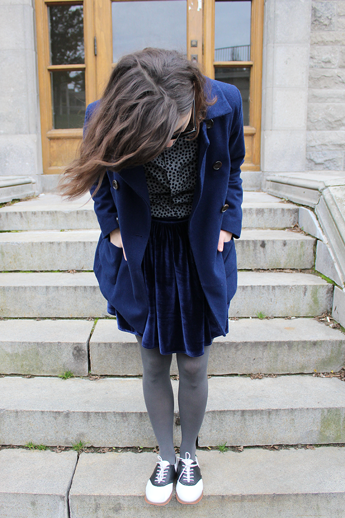 Holiday outfit inspiration velvet