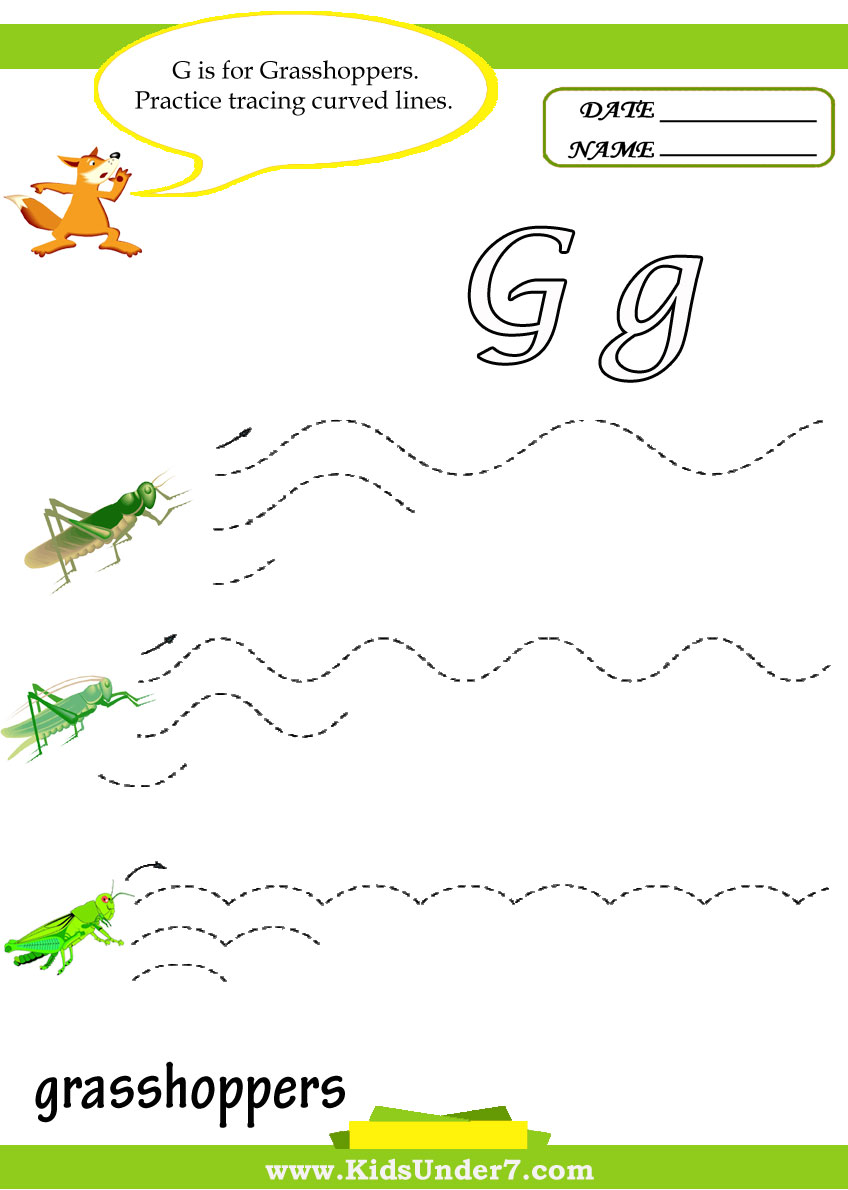 Kids Under 7 Letter G Worksheets – Letter G Worksheets for Preschool