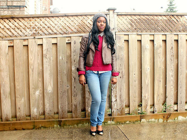 Fashion Blogger Personal Style: Leather Jacket, Cap Toe heels