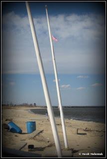 9/11 memorial leonardo middletown nj after hurricane sandy flag