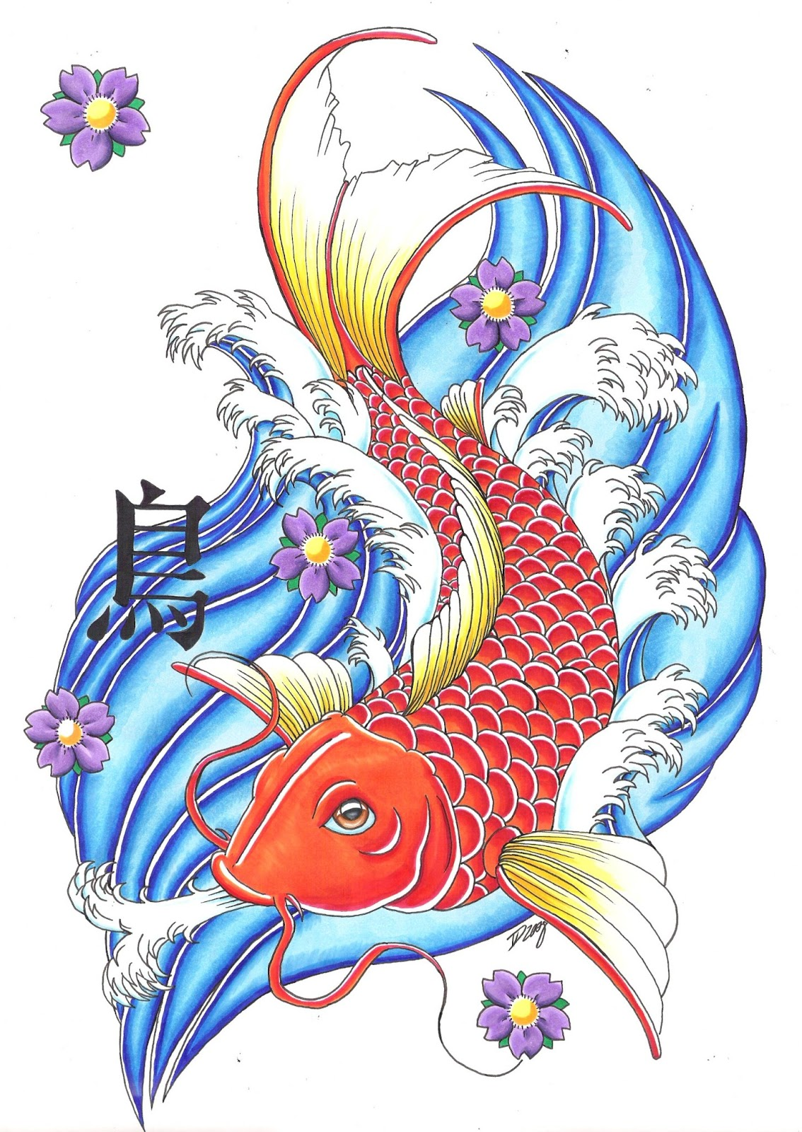 tatto koi fish tattoo