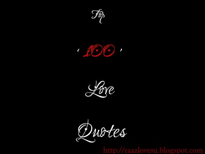 Top 100 Love Quotes
