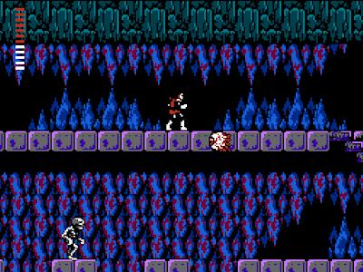 Les sinistres grottes dans Castlevania Simon's Quest
