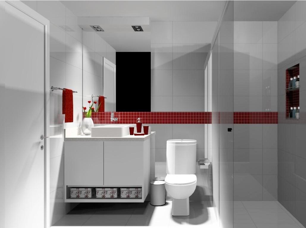 Help na Reforma 10 IDÉIAS DE APLICAÇÃO DE PASTILHAS EM BANHEIRO -> Banheiro Com Faixa De Pastilha Atras Do Vaso